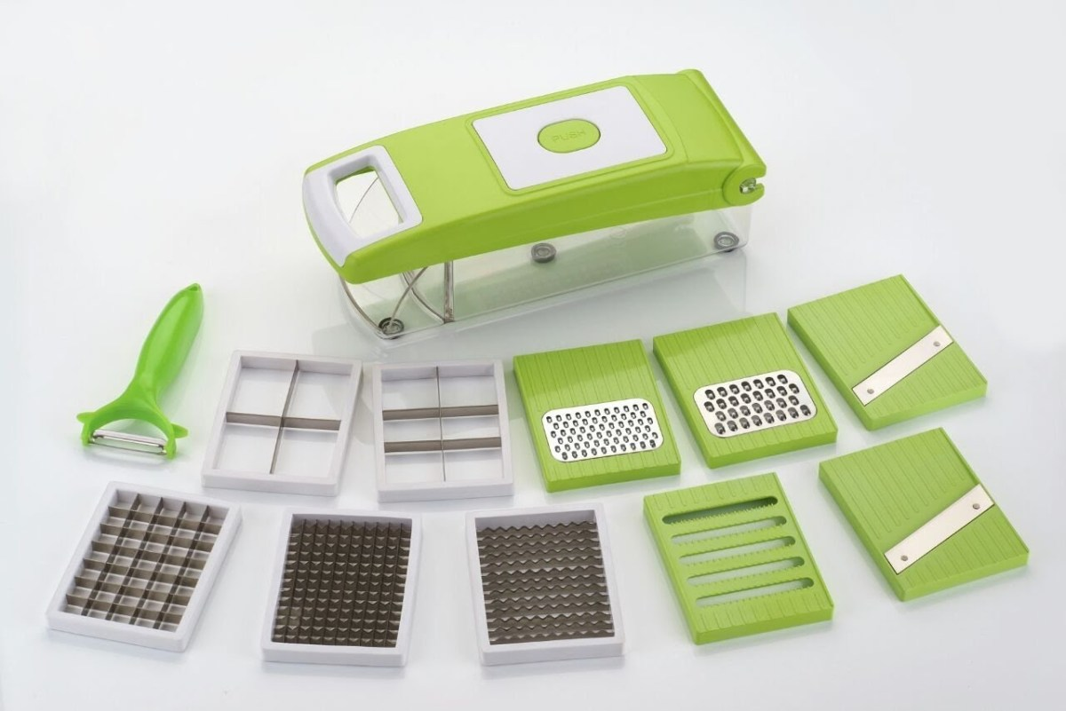 11-in-1 Vegetable Slicer - Green & Sliver