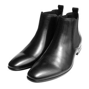 Black Men's Official Leather Boots With Rubber Sole