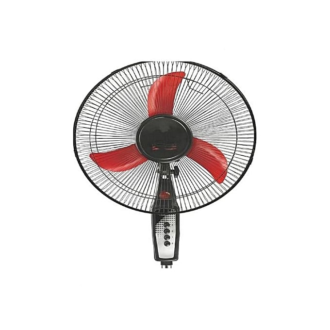 "STERLING SSF-103 - 16"" Stand Round Base Fan With Plug And Accessories - Red"