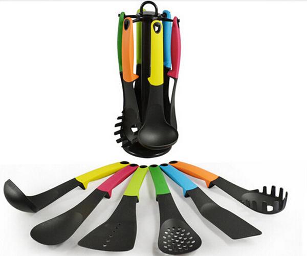 Non-stick spoons-6 Pieces/set Kitchen Cooking Utensils Set Nylon Kitchen Ware Soup Spoon Shovel Spatula Colander Sets
