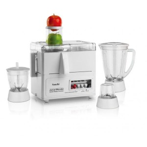 Saachi 4 in 1 Unbreakable Jar Countertop Blender - 4459, White
