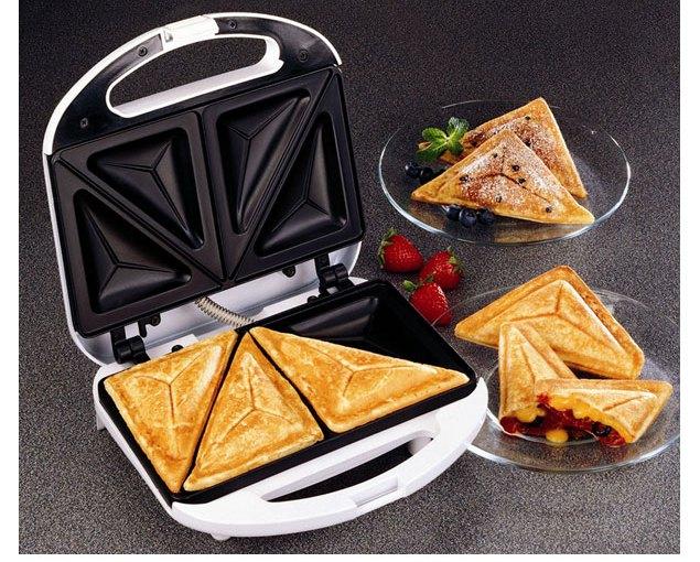 HE-HOUSE 2 Slices Sandwich Maker - Black
