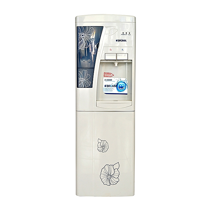 Bruhm BWD HC 39C - Water Dispenser - Grey floral design
