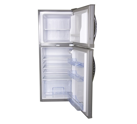 Refrigerator, 108L, Direct Cool, Double Door, Silver Brush