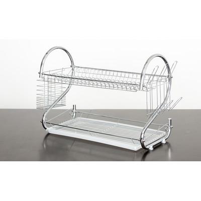 Elegant 2 Tier Stainless Steel Dish Rack/Dish Drainer