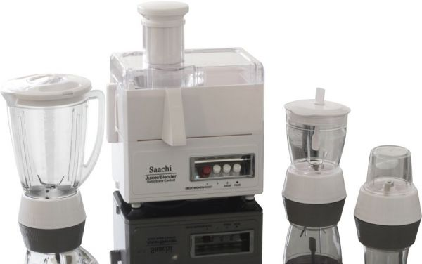 Saachi 4 in 1 Unbreakable Jar Countertop Blender - 4459, White