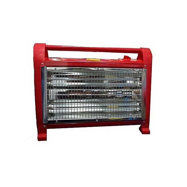 Room heater with cooling fan-red