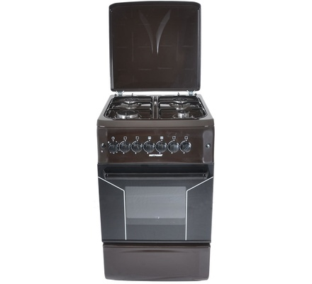 Von Hotpoint 4 Gas Cooker - Brown