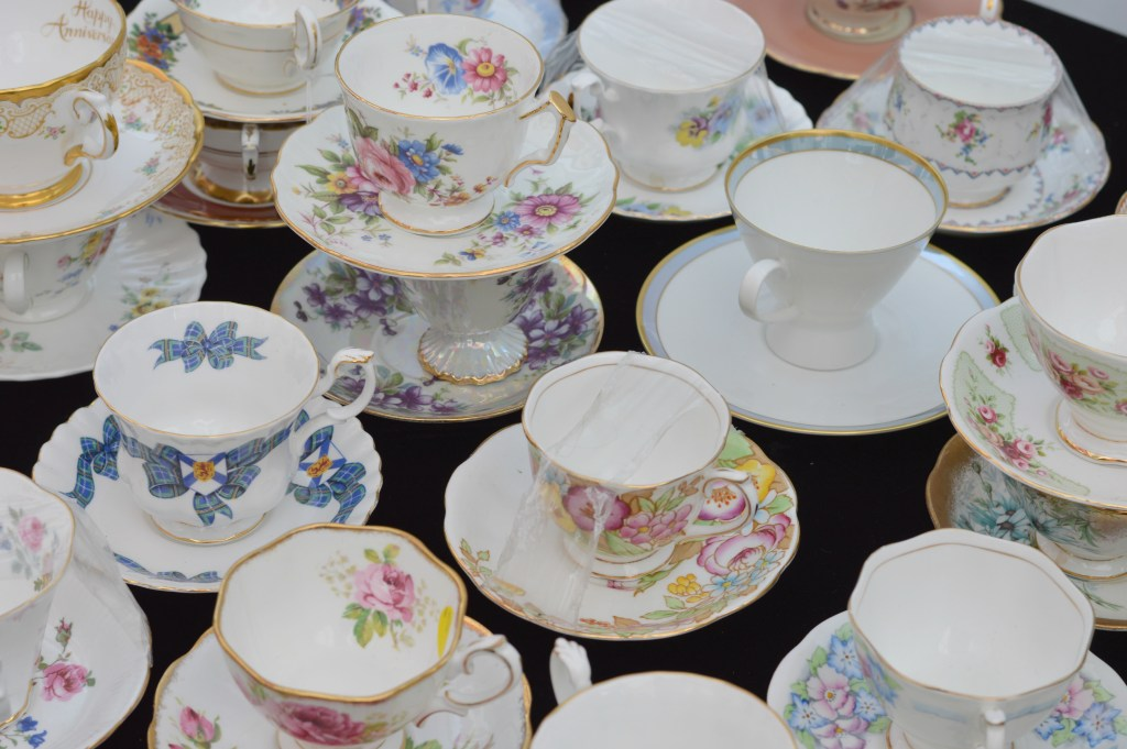 Vintage tea cups. Perfect for a tea party.