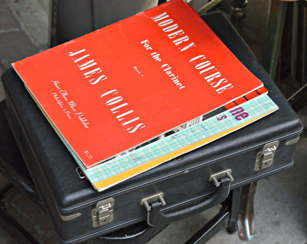 Just an old vintage brief case with random books ontop. I just liked the way the books were placed ontop.