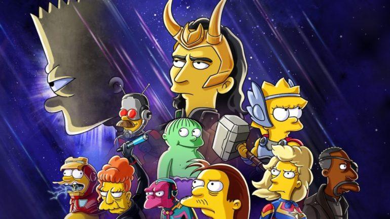Simpsons x Loki Poster