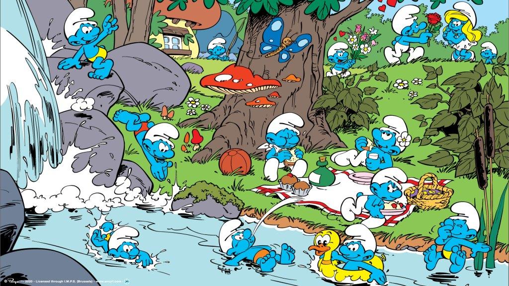 Smurfs Στρουμφάκια illustration