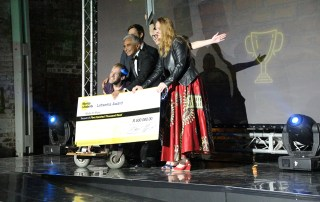 Made for More, recipients of the R500,000 2018 Letsema Award, which supports sports initiatives for people with disabilities. Photo: Ryk Meiring