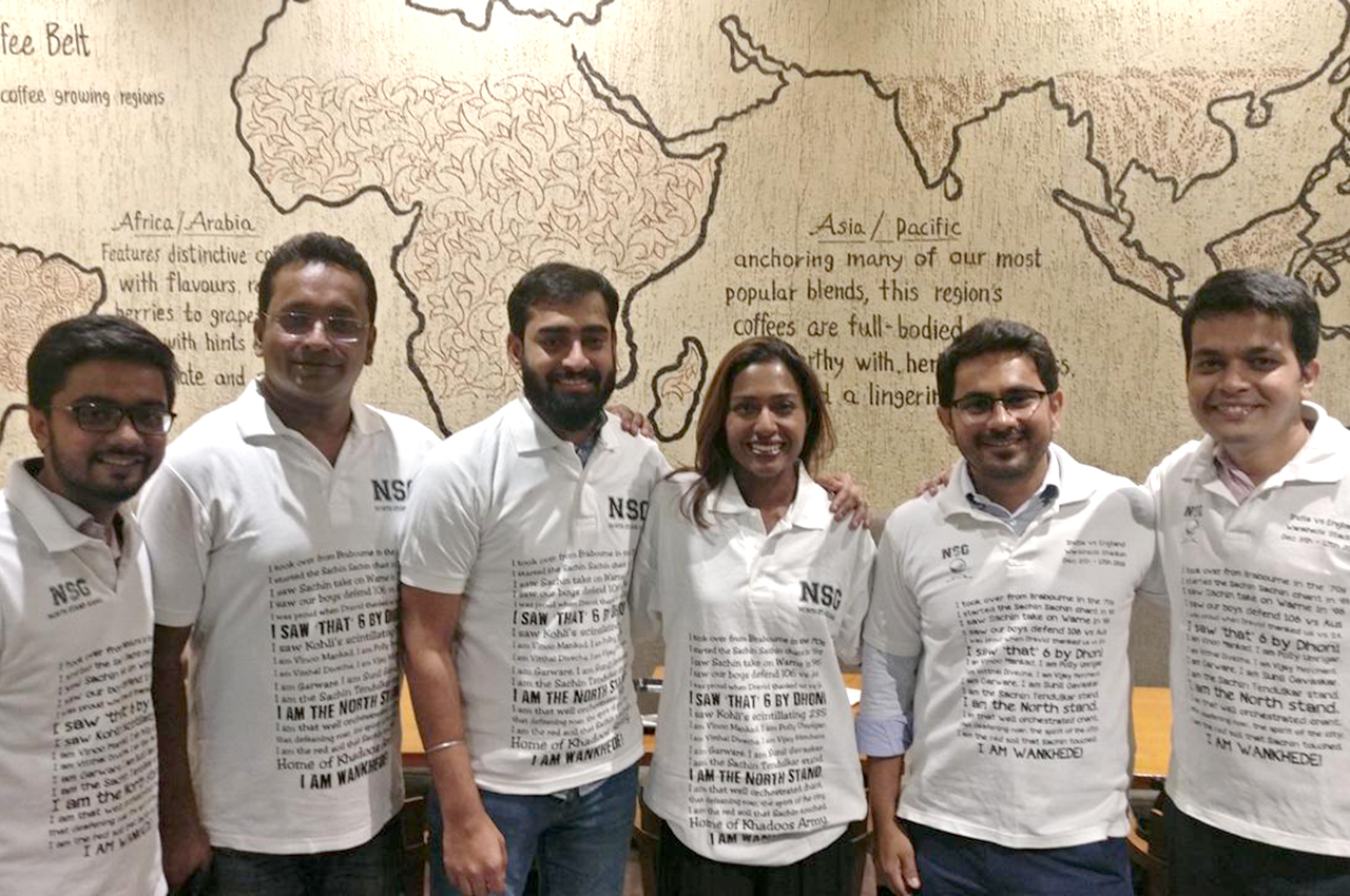 Darshan, Ashutosh, Abhishek, Sagar and Ajinkya are some of the most passionate cricket fans I ever met. Their admiration of SA cricketers is next level. Photo: Supplied