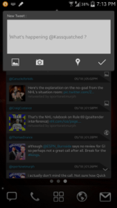 Falcon Widget for Twitter Compose