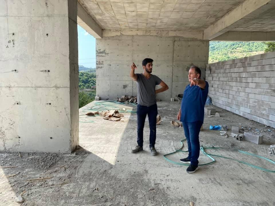 Demir, Cide Devlet Hastanesi inşaatını ziyaret etti