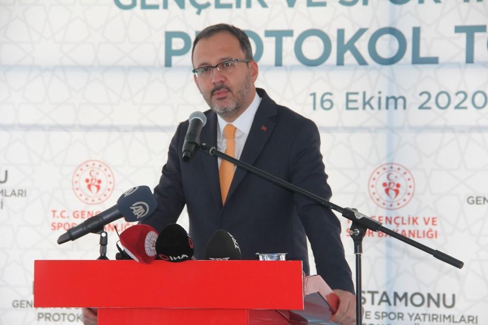 Gençlik ve Spor Bakanı Mehmet Muharrem Kasapoğlu: