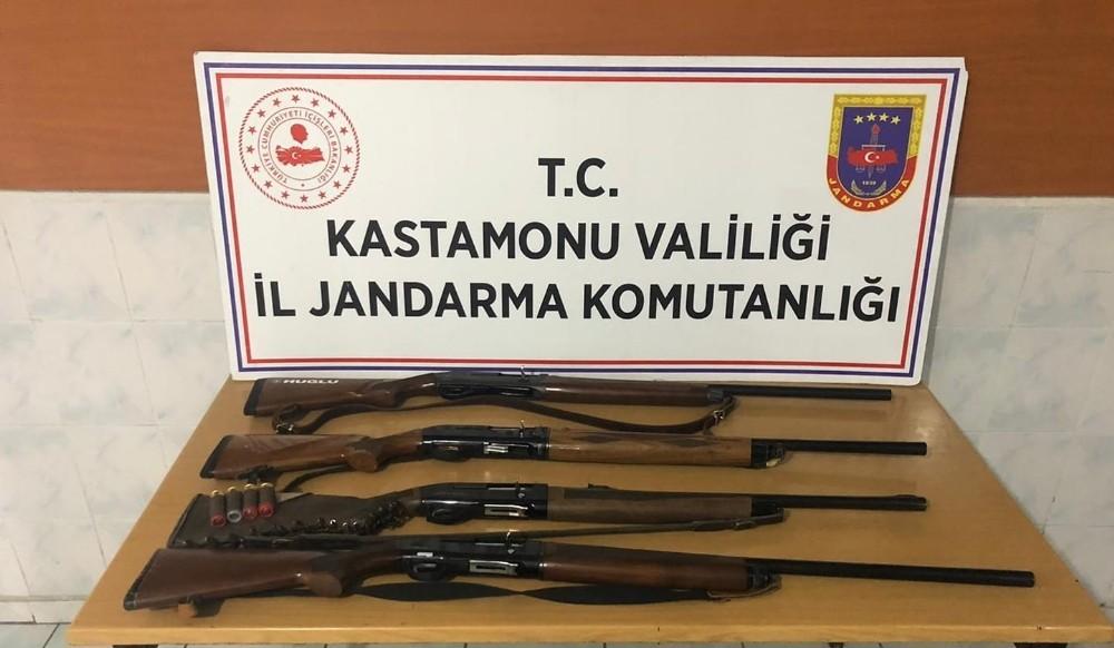 Kastamonu'da kaçak avlanan 4 kişiye 5 bin 808 lira para cezası