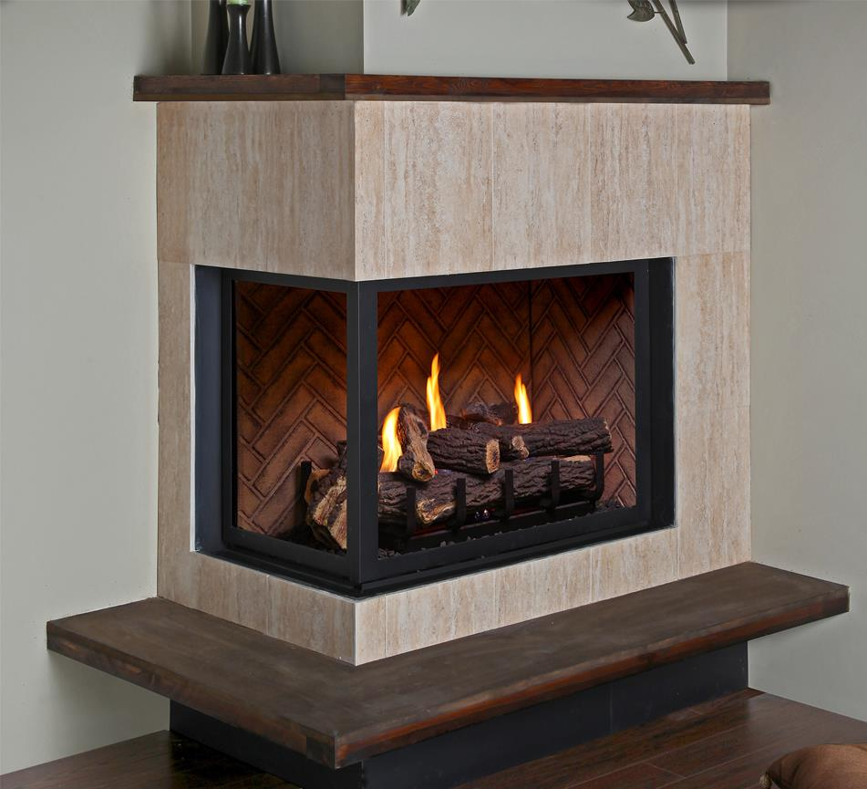 Corner Gas Fireplaces Vented Gas Fireplaces - H38cr/hp38cr/h38cl/hp38cl - Kastle Fireplace