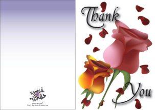 A thank you card (vector illustration)