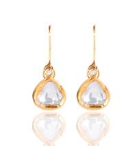 Heirloom Classic Raw Sliced Diamond Drop Earrings - Kastur ...