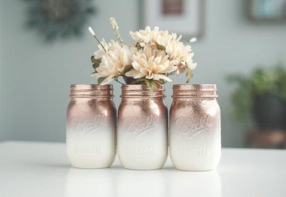 mason jar crafts, mason jar ideas, ombre mason jars