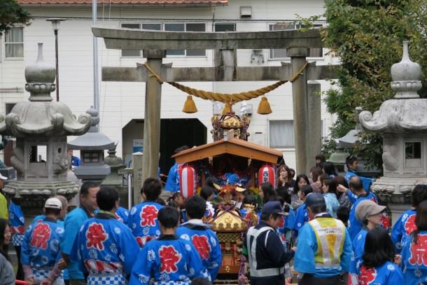 平成27年10月 井手神社の御輿渡御