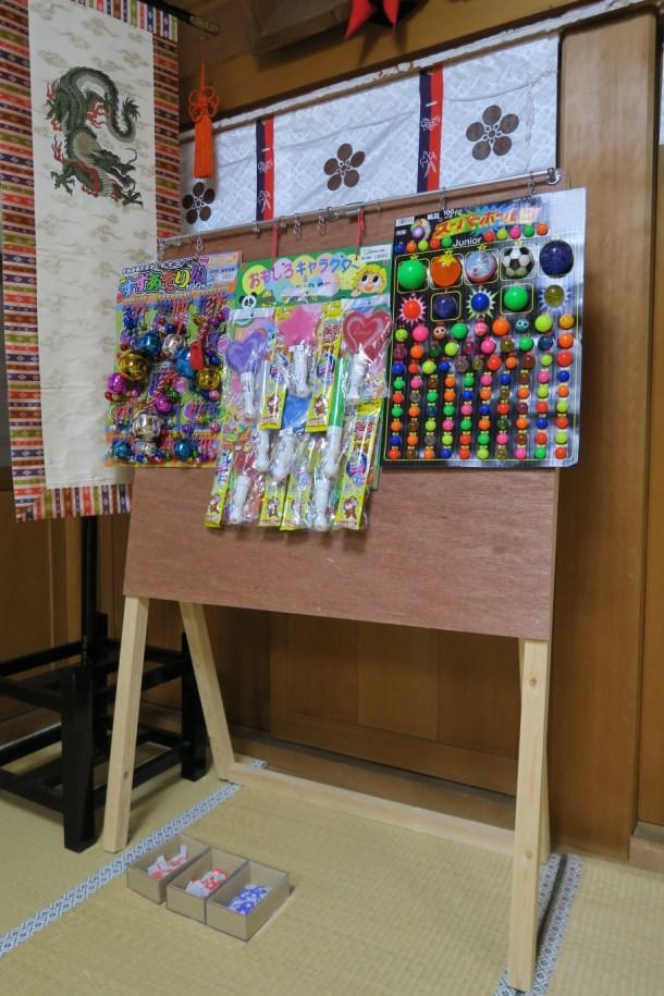 平成28年春祭りのくじ引き設備