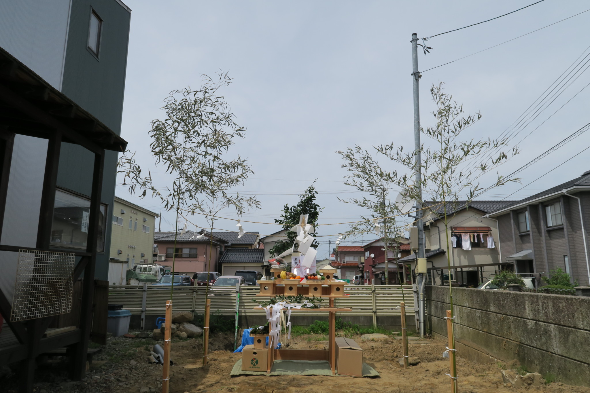 一般住宅地鎮祭祭壇(テント無し)