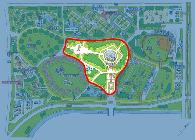 画像:センターゾーンマップ
