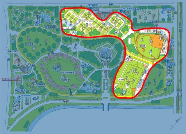 画像:スポーツゾーンマップ