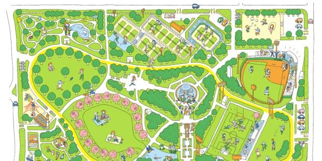 画像:公園マップ