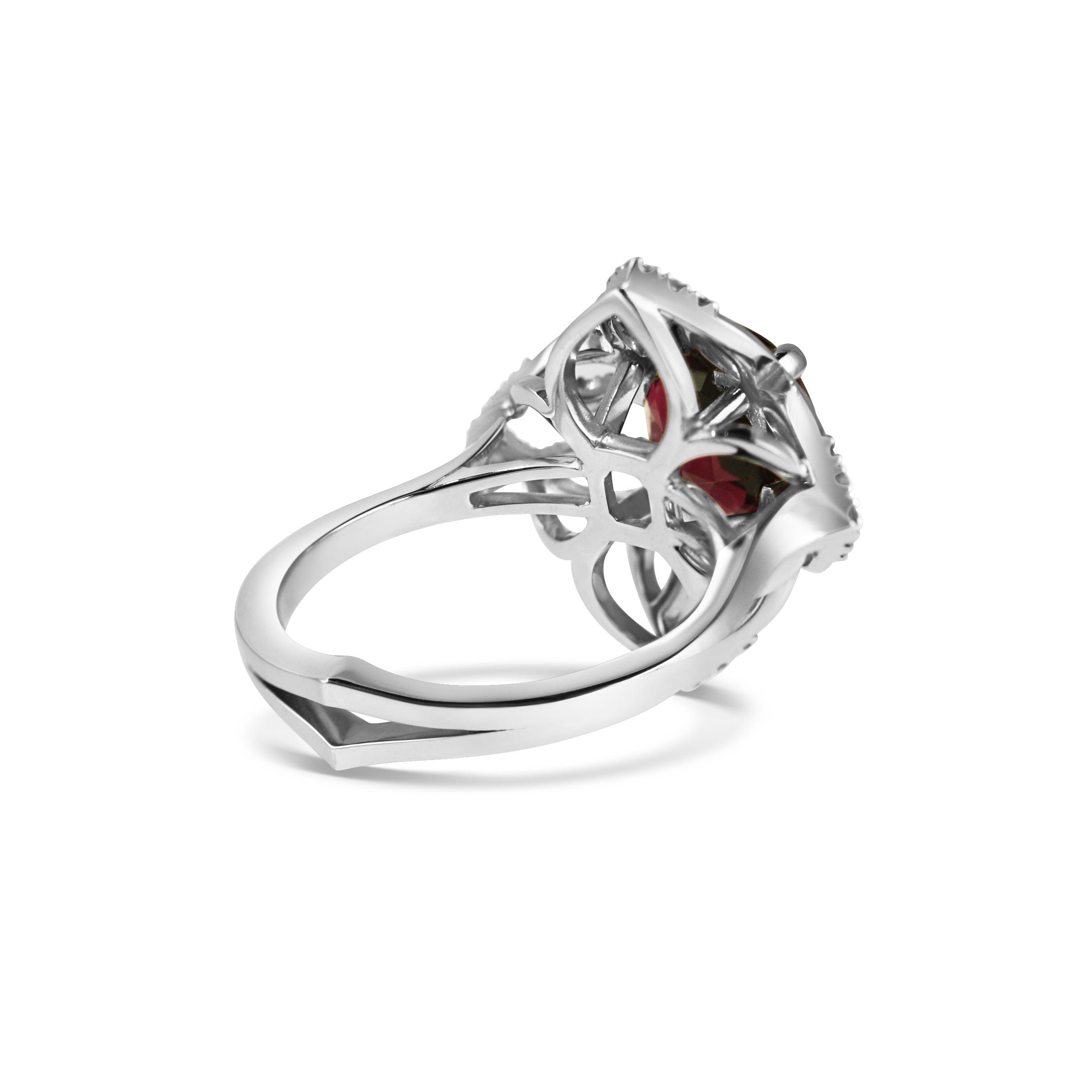 Freya Ring ~ White Gold & Garnet ~ KATA Jewellery Collection