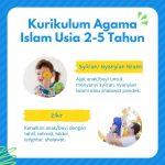Kurikulum Agama Islam untuk Anak 0-5 Tahun