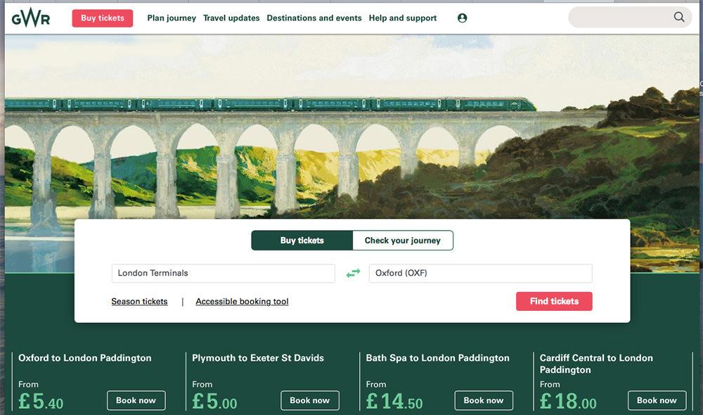 鐵道玩轉英國   火車GWR 2018 一月特價幫大忙