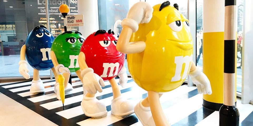 【英國】倫敦 M&M's 巧克力世界   繽紛巧克力牆 夢幻級療癒聖地 (含影片)