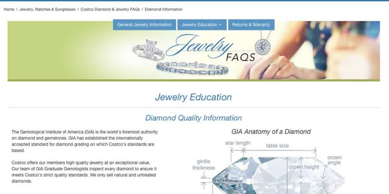 Costco 也賣鑽石    4C標準比一比