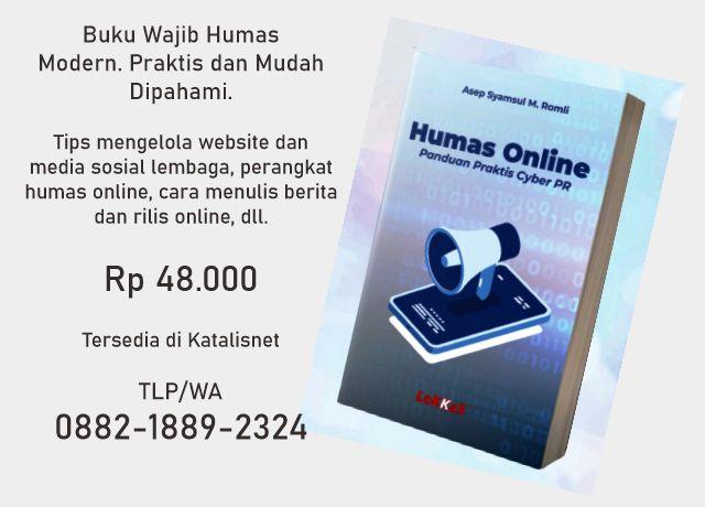 Buku Humas Online: Panduan Praktis Cyber PR