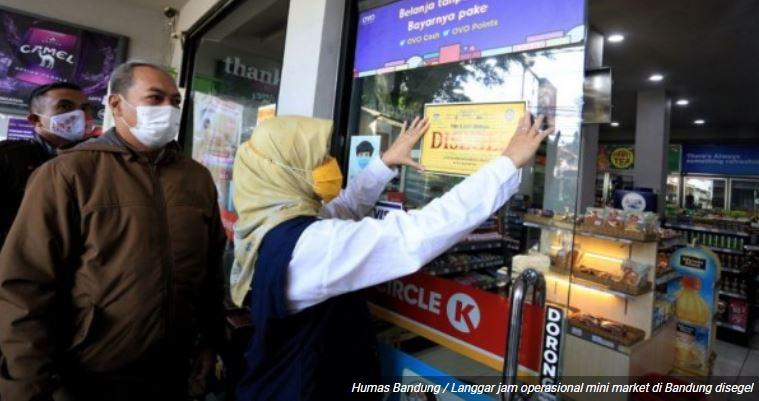 Satgas Covid-19 Kota Bandung Segel 4 Minimarket