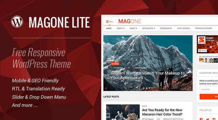 MagOne Lite 1.2 – Free Responsive WordPress Theme