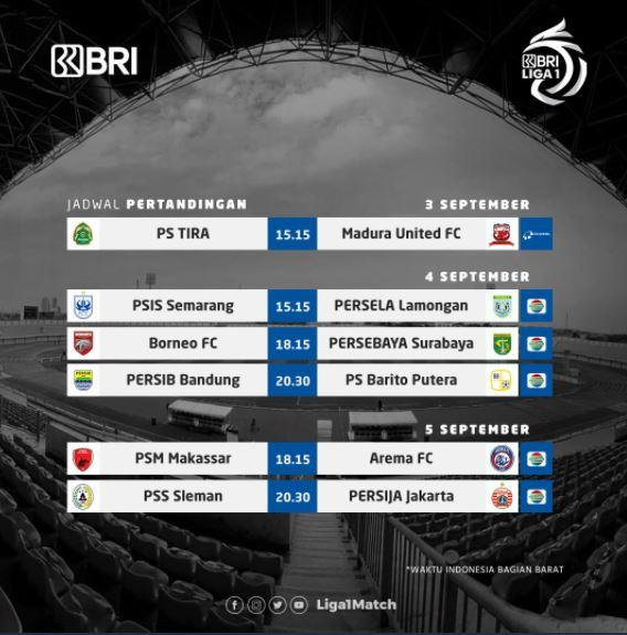 Jadwal Liga 1 2021 Pekan 1