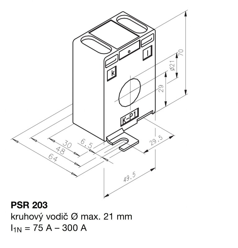 PSR 203 250/1 2,5 0,5-WR 21 50-30