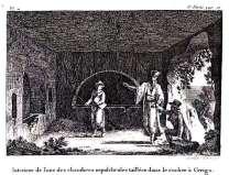Antoine Laurent Castellan - Kythera, Aithousa me tafous exorygmenous sto braxo