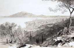 ZANTE . view from the castle hill, looking towards monte skopo, zante, by Edward Lear, c. 1863