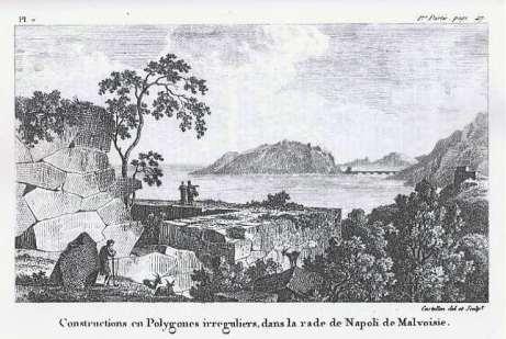 Antoine Laurent Castellan - Neapolis Monemvasias, palaies lithodomes (1797)