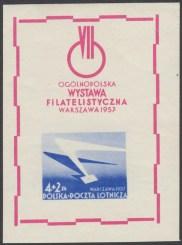 VII Ogólnopolska Wystawa Filatelistyczna w Warszawie - Blok 20