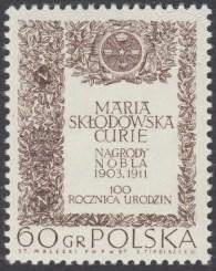 100 rocznica urodzin Marii Skłodowskiej Curie - 1631