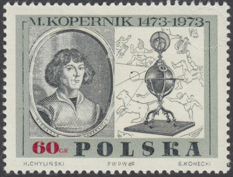 500 rocznica urodzin Mikołaja Kopernika znaczek nr 1779