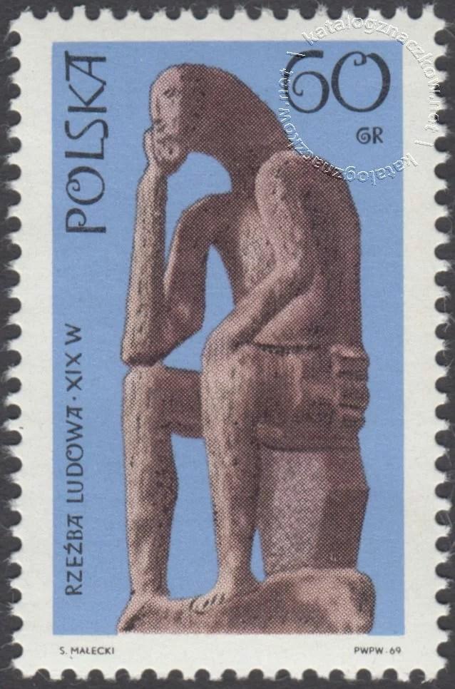 Polska rzeźba ludowa znaczek nr 1826