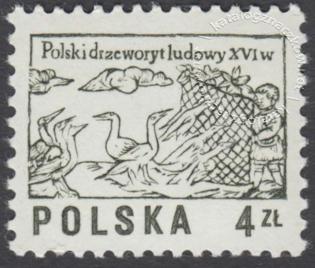 Polski drzeworyt ludowy XVIw. znaczek nr2390